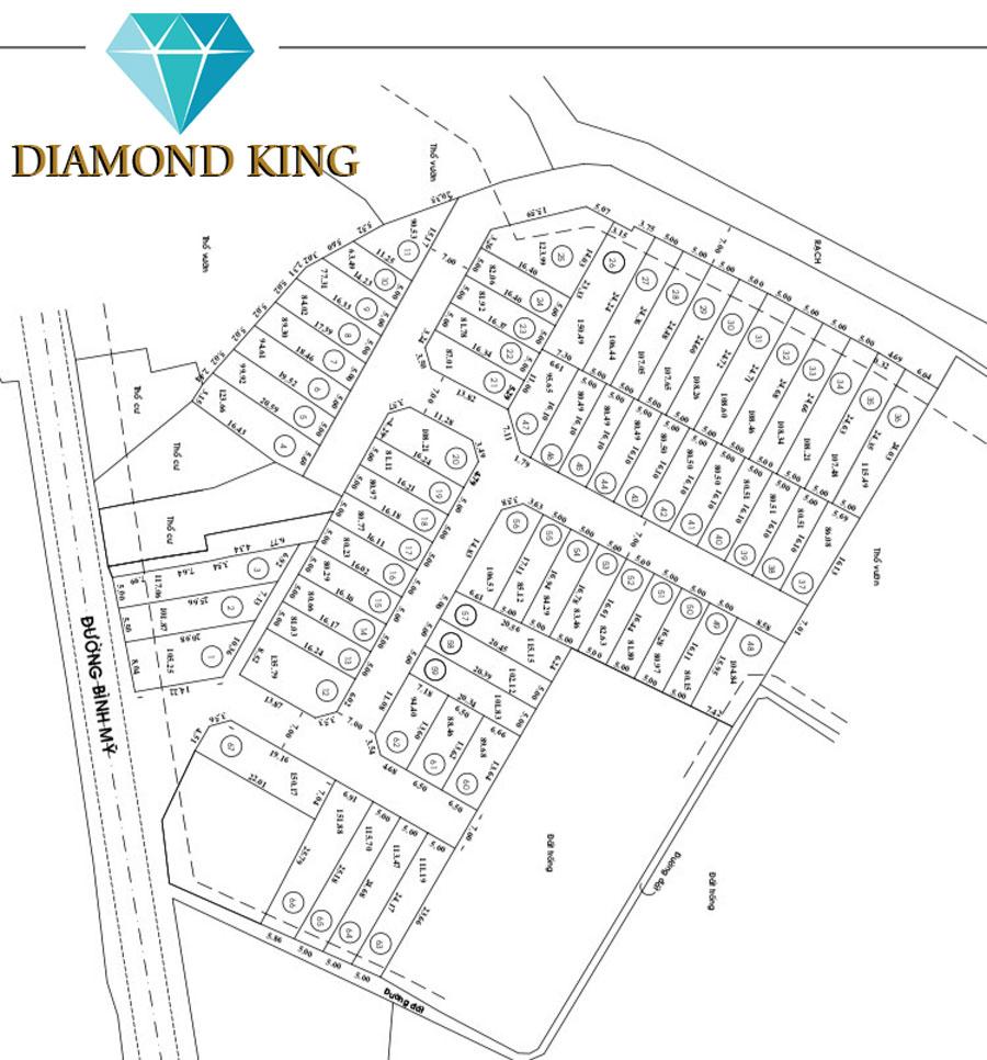 Mặt bằng Dự án Đất nền Diamond King Bình Mỹ Củ Chi