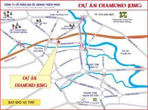 Vị trí Dự án Đất nền Diamond King Bình Mỹ Củ Chi