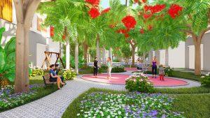 Khu công viên cây xanh tại nội khu Dự án The Residence 1 Củ Chi
