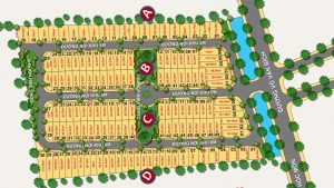 Mặt bằng phân lô Dự án đất nền The Residence 1 Võ Văn Bích